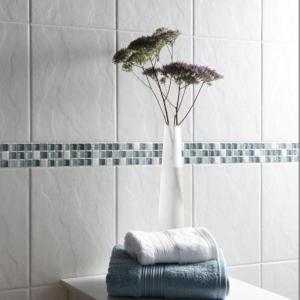 Riven White Tiles